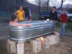 #CKBradley weekend. Thank you Andy. Idea: take farm feeding trough and make a hot tub
