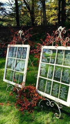 Diy Vintage Wedding Seating Chart Windows- Shabby Chic Wall Decor