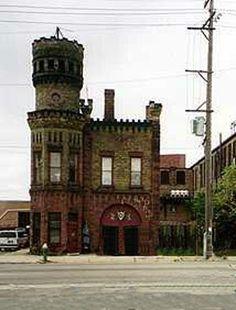"Old Firehouse, 1400 block Racine Street ""Unknown Castle""- Racine, Wisconsin"