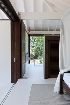 tropical beach house door