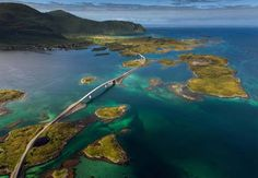 Arctic paradise - Lofoten islands // Fredvang bridges // Cessna flight One of my dreams came true yesterday. I had a flight over Lofoten islands, above all of my well-known places. Places To Travel, Places To See, Travel Destinations, Places Around The World, Around The Worlds, Lofoten Islands Norway, Norway Landscape, Sunrise Landscape, Les Fjords