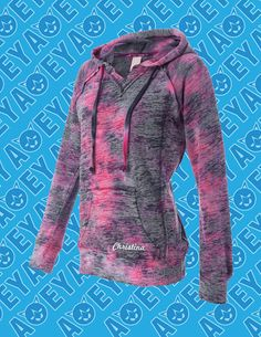 TieDye Hoodie  Pink  With Personalization by ACEYapparel on Etsy