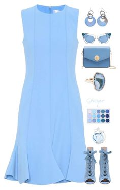 """""""Blue Girl"""" by gemique ❤ liked on Polyvore featuring Victoria, Victoria Beckham, Bally, Pared and Thierry Mugler"""