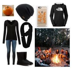 """""""bonfire"""" by a-hidden-secret ❤ liked on Polyvore featuring AG Adriano Goldschmied, American Vintage, UGG Australia, The North Face, Coal and Casetify"""