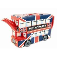 London Union Jack Bus Teapot