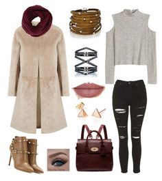 """""""Fall Finale!"""" by marycamacho ❤ liked on Polyvore featuring Helmut Lang, Topshop, H&M, Mulberry, Valentino, BCBGMAXAZRIA, Eva Fehren and Sif Jakobs Jewellery"""