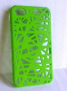 Lime Green Silicone Phone Case for iPhone 4/4S by CandyCells