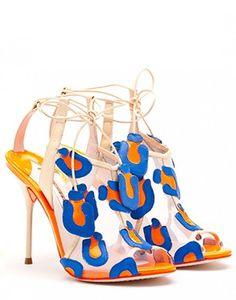 Sophia Webster Blake Strong Blue & Fluro Sandal