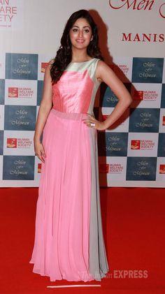 Yaami (Yami) Gautam wore a floor-length Manish Malhotra creation at the Mijwan Fashion Show.