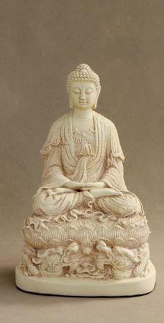 Buddha Statue with Dragon Base