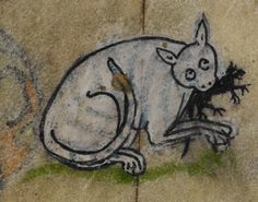 Detail from medieval manuscript, British Library Stowe MS 17 'The Maastricht Hours', Medieval Drawings, Medieval Paintings, Medieval Art, Book Of Kells, Medieval Costume, Book Of Hours, Medieval Manuscript, Historical Art, Cat Drawing