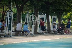 Park Work out Equipment, Daejeon, South Korea Daejeon, South Korea, Funny Quotes, Street View, Journey, Calm, Workout, Humor, Health