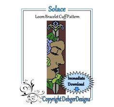 Solace++Loom+Bracelet+Cuff+Pattern+by+LoomTomb+on+Etsy,+$4.50