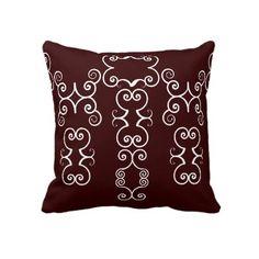 Swirls Burgundy Throw Pillow by InspireYourself Swirls, Accent Pillows, Decorative Throw Pillows, Burgundy, Decorative Pillows