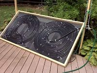 Steaming hot update solar hot water tubingcan pool heater build solar hot water tubingcan pool heater build this thing is scoartching hot youtube nolow cost energy pinterest solutioingenieria Image collections