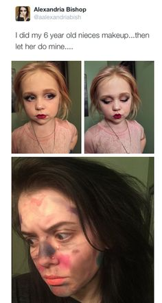 People are like kids playing with make up now when they don't fucking realize there's an older person doing that shit