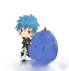 Fairy Tail.... yea I have no idea what that's suppose to be um jellal's blue...?