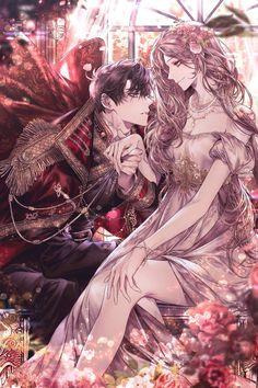 Anime Couples Drawings, Anime Couples Manga, Anime Guys, Anime Art Girl, Manga Art, Anime Harem, Elfen Fantasy, Romantic Manga, Romantic Anime Couples