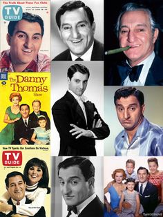 Danny Thomas (born Amos Muzyad Yakhoob Kairouz, Jan. 6, 1912–Feb. 6, 1991) was an American comedian, TV & film actor & producer, whose career spanned 5 decades. He was best known for starring in the TV sitcom Make Room for Daddy (also known as The Danny Thomas Show). He was the founder of St. Jude Children's Research Hospital. He is the father of Marlo Thomas, Terre Thomas, & Tony Thomas. In 2012, the US Postal Service issued a first class stamp honoring Thomas as an entertainer & humanitarian.