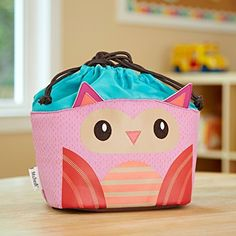 Kids' Drawstring Insulated Lunch Bag (Luna the Owl)  Price : $15.00 http://shop.fit-fresh.com/Kids-Drawstring-Insulated-Lunch-Luna/dp/B00HAIUKKU
