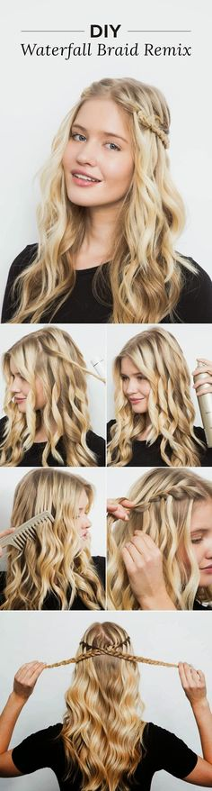 Looks I LOVE! DIY the Waterfall Braid Remix That's Perfect For Music Festival Weekend #DIY #Sexy #Hairstyles #Hair #Waterfall #Braid #Tutorial #Boho #Chic #Fashion