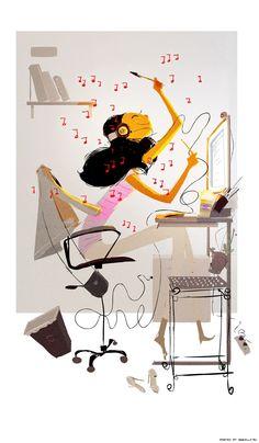 Música en la habitación, música virtual que acompaña una tarde a través de una canción.