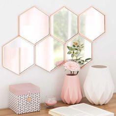 COPPER copper-coloured metal wall mirror 36 x 63 ...