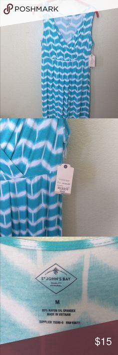 NWT St John's Bay Dress, size M Light green, NWT, dress st johns bay Dresses Mini