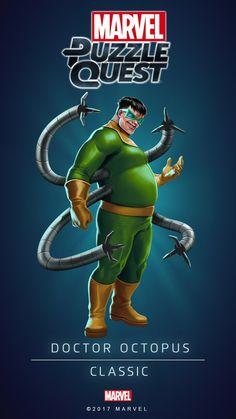 DOCTOR OCTOPUS (Classic) | 5 Stars | Marvel PUZZLE QUEST Dc Comics Vs Marvel, Marvel Villains, Marvel Art, Marvel Heroes, Marvel Avengers, Spiderman Marvel, Marvel Games, Marvel Animation, Mundo Marvel