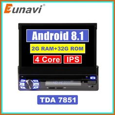 """Top Eunavi 2G RAM Single 1 Din 7"""" Android 8.1 Car DVD Player GPS Radio Stereo Universal 1024600 Hd Head Unit With Wifi Touch Screen 2020 Cheap Car Audio, Head Unit, Gps Navigation, Multimedia, Wifi, Android, Touch"""