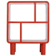 Small Art Deco Red Shelving Unit, Sweden, 1930s 1