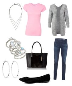 Untitled #3 by paigeambr on Polyvore featuring polyvore fashion style Sans Souci AG Adriano Goldschmied Breckelle's Calvin Klein Kendra Scott Banana Republic Jennifer Fisher clothing