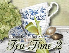 Shop Banner  Banner Set  Etsy Banner Set  by LalipopsandDaisies, $15.00 #teacups #tea #cups #etsybanners #etsypremadebanners #graphics #downloads