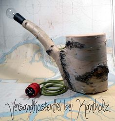 """Tischlampe """"Birkenwald"""" von Kantholz Kunsthandwerk auf DaWanda.com"""