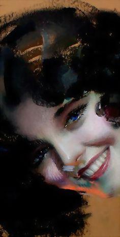 A Blue Eyed Beauty Artist: Rolf Armstrong Date: 1931 Rolf Armstrong, Estilo Pin Up, Jamel, Illustration Girl, American Artists, Blue Eyes, Art Drawings, Pinup, Artwork