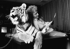 betty white with a tiger