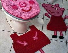 Kit Tapetes para Banheiro/ Peppa Pig
