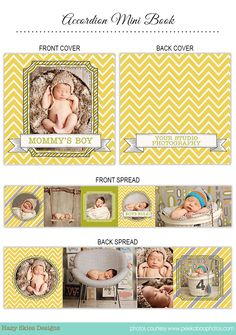 Items similar to Accordion Mini Book Template for Photographers, Mini Album Template, Photo Book Templates - Boys Rule on Etsy Mini Scrapbook Albums, Mini Albums, Accordian Book, Mommys Boy, Birth Announcement Template, Photography Templates, Little Blessings, Sky Design, Newborn Pictures