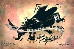 piano painting, music painting, music art, music art print, limited edition print of music piano painting called The Sound Of Music by Virgil C. Music Painting, Music Artwork, Blue Painting, Piano Art, Cowboy Art, Sound Of Music, Western Art, Music Notes, Contemporary Paintings