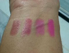(From Left to Right – Drive Me Nude, Keep on Mauving, Make Me Blush, I Want Candy )