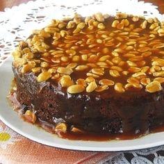 Brownie Cake with Caramel Peanut by Sara_Miki
