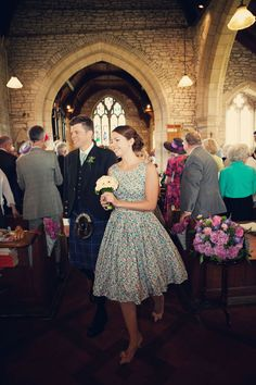 Ditsy floral bridesmaids dresses
