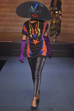 loving this wrestler mask large hat from Jean Paul Gaultier RTW Spring 2015