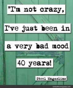 Steel Magnolias (1989) - Movie Quotes ~ 'I'm not crazy' ~ #80smovies #moviequotes