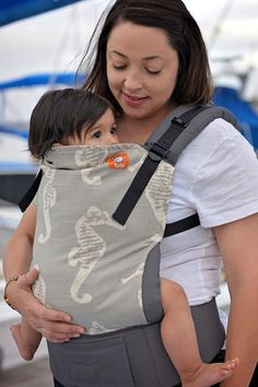 Tula Carrier - Standard Size - Grey Sea Horses