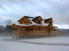 Ashland Log Floor Plan | Log Cabin 2,016 sq. ft › Expedition Log Homes, LLC