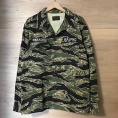 Image of Wacko Maria Freedom Renegades Tiger Camo Army Shirt XL