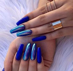 25 Long Blue Coffin Nail Designs You Will Want to Try - Long Blue Coffin Nail D. - - 25 Long Blue Coffin Nail Designs You Will Want to Try - Long Blue Coffin Nail Designs You Will Want to Try,blue coffin nails with glitter,blue coffin nails - Blue Chrome Nails, Dark Blue Nails, Blue Coffin Nails, Blue Acrylic Nails, Summer Acrylic Nails, Cobalt Blue Nails, Blue Nails Art, Blue Nails With Glitter, White Glitter