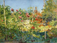 Garten à Trouville - (Gustave Caillebotte)