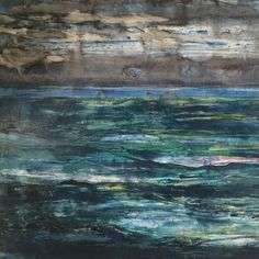 Mixed media seascape. #miarisbergart #mixedmediapainting #contemporaryart #artecontemporanea #målning